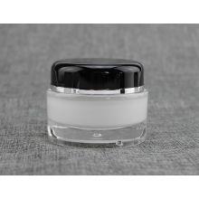 Tarro cosmético redondo de 100 g 200g PMMA con la tapa redonda