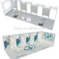 Oferta de Detian stand ferial portátil con diseño de exposición 3d para publicidad de exhibición de joyas