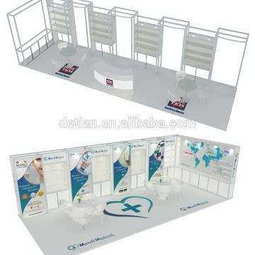 Detian Angebot portable Messestand mit 3D-Ausstellung Design für Schmuck-Ausstellung Werbung