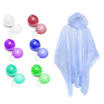 Impermeável descartable PE Raincoat Poncho In Ball