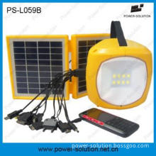 portable solar energy light with phone charger