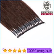 Straight Brown 20inch 100% Brazilian Human Virgin Hair Micro Ring Hair Extension Remy Hair