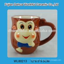 Keramische Milchshake Tasse mit Affen Design