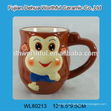 Ceramic milk shake cup with monkey design