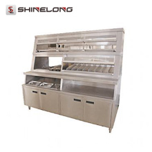 K283 Fast Food Equipment Pantalla de lujo de alimentos calientes
