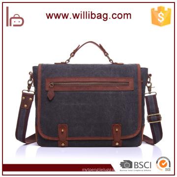 High Quality Vintage Custom Canvas Messenger Bag