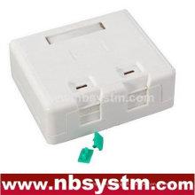 Caixa de superfície de 2 portas com 2 pcs keystone jack ou sem