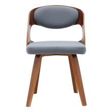 Modern PU Leather wood dining chair