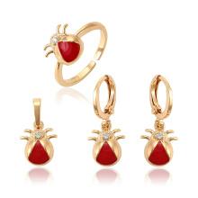 62564 Xuping nuevo diseño oro niños joyas cobre diseño lindo bebé tres piezas conjunto