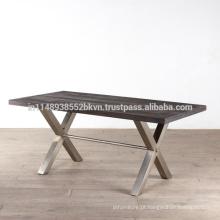 Tabuleiro de madeira industrial Vintage Top e Metal