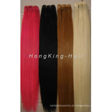 100% brasileira tecendo cabelo colorido limpo e saudável