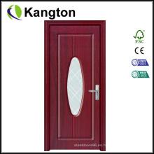 Puertas de madera interiores económicas de último diseño (puerta de madera)
