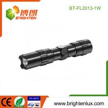 Fabrik-Massen-Verkauf 1 * AA Zelle betriebenes Aluminium preiswertes Handschwarzes Förderung-kleine geführte Minitaschenlampe