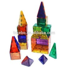 Rainbow Mags 40 piece glass color Magnetic tiles with colored magnets. THE IGLOO SET