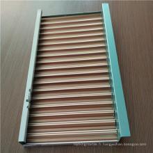 Panneaux de plafond en aluminium ondulé