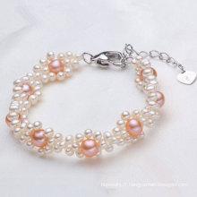 Fancy Bracelet en perles de culture d'eau douce bijoux (E150033)