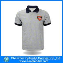 Camisa de polo de algodón de manga corta de encargo de alta calidad ropa de moda
