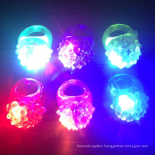 LED Flashing Jelly Bumpy Rings
