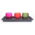 Candelero Glass Votive Big 3pcs Set