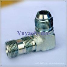 Connecteur de tube Hydraulique Jic à 90 degrés