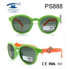Customer Design Plastic Sunglasses, 2015 Fashion Round Shape Kids Roubber Sunglasses (PS888)