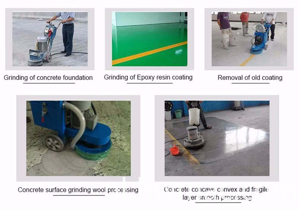Concrete Floor Polishing Machine working photos