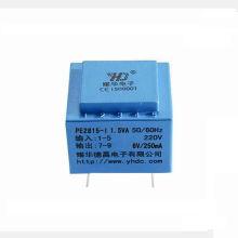2VA 220V 24V encapsulated pcb mount transformer