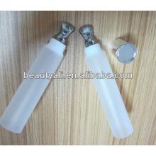 Tubo com aplicador de metal para lipgloss, tubo de bálsamo labial, tubos de cosméticos para lipgloss e essência dos olhos
