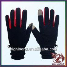 Poliester barato al por mayor del aislamiento del invierno que va de excursión los guantes que completan un ciclo
