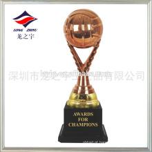 Copo de prêmio de vôlei de pequeno porte personalizado troféu de bronze de prata dourada
