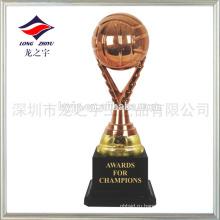 Изготовленная на заказ малая волейбол Кубок награду золотой серебряный бронзовый трофей