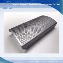 Material de metal perforado para depósito de grano