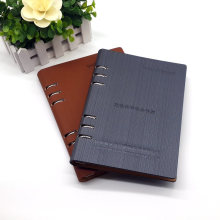 Cuaderno de tapa dura de cuero de alta calidad de la PU