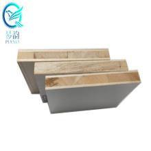 Shanghai Qinge 38mm melamine/fancy veneer/hpl/polyester/pvc faced falcata poplar block board price  for doors with CE