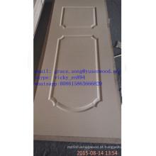 Pele moldada da porta do folheado de madeira de HDF / MDF