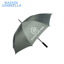 Auto Ouverture Droite Tige Logo Impression Mode Umberla Petite Publicité Promotionnelle Chinois Golf Parapluie Classique avec Poignée EVA