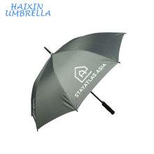 Auto Abrir Reta Rod Logotipo Impressão de Moda Umberla Pequeno Promocional Chinês Publicidade Golf Umbrella Clássico com EVA Handle