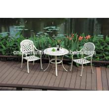 Mesa y sillas de patio revestidas de aluminio en polvo