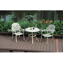 Table et chaises de patio en aluminium enduit de poudre