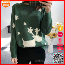 2017 women ugly christmas sweater knitting pattern with deer