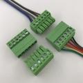 Contactos de 6 pines del bloque de terminales enchufable de montaje de cables