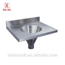 Edelstahl infundibuliform trichterförmigen slop trichter wand hing hand waschbecken kombiniert schleuse für öffentliche verwendung