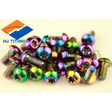 GR5 titanium brake rotor bolts rainbow colored m5*16