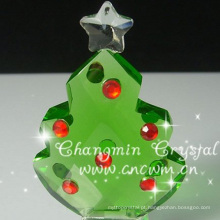 Árvore de Natal pequena e delicada de cristal