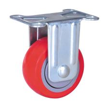 75mm plate rigid caster with pu wheel