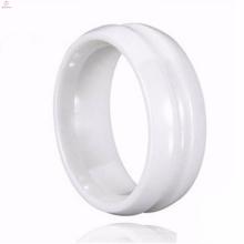 Neue Art-koreanische Hochzeit Passion White Ceramic Ringe Größe