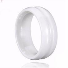 Novo Estilo Coreano Casamento Paixão Branco Cerâmica Anéis Tamanho