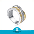Top Quality 2 Tones Plating Sterling Silver Ring (SH-R-0146)