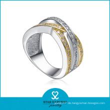 Hochwertige 2 Töne Beschichtung Sterling Silber Ring (SH-R-0146)