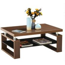 Mesa de té de madera de hierro diseño foto